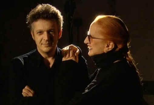 Massimo Moriconi durante le registrazioni in studio con Mina